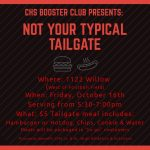 Booster Club Tailgate 10/16