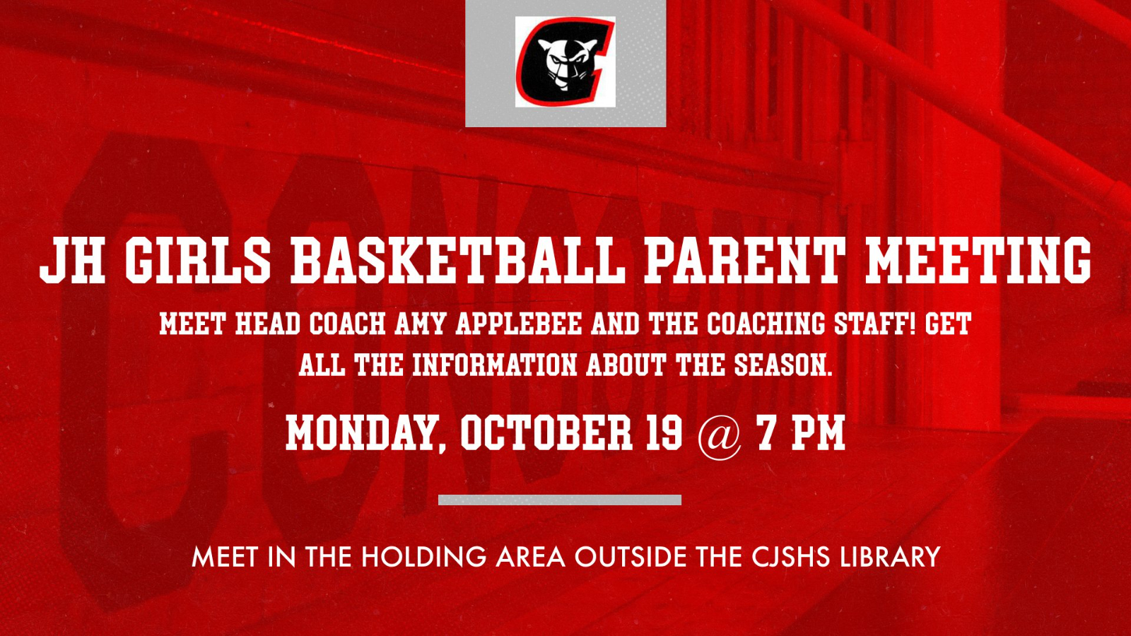 JH Girls Basketball to hold parent meeting October 19