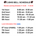 CJSHS Remote Learning Schedule