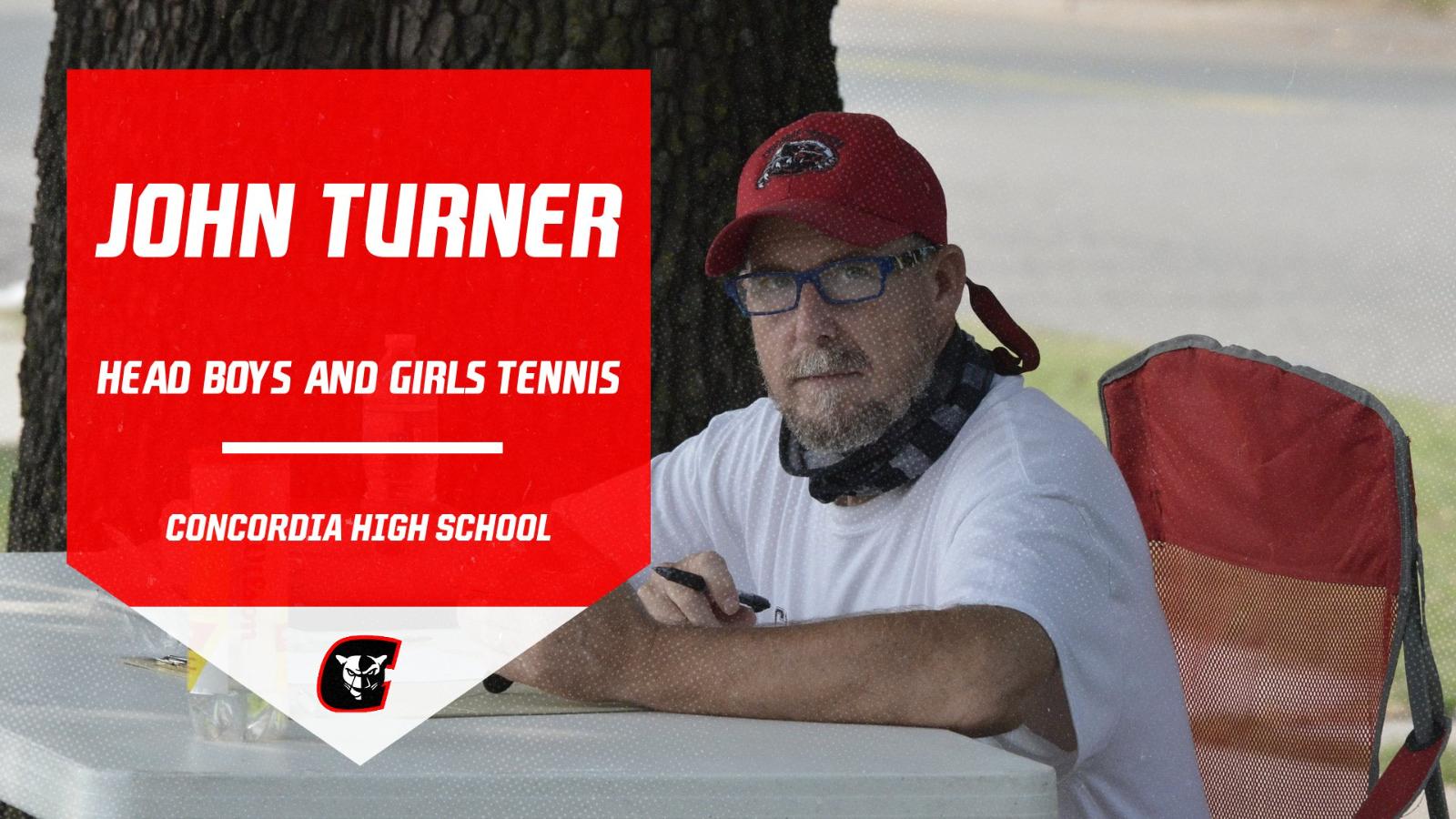 John Turner Named New Head HS Girls and Boys Tennis Coach!