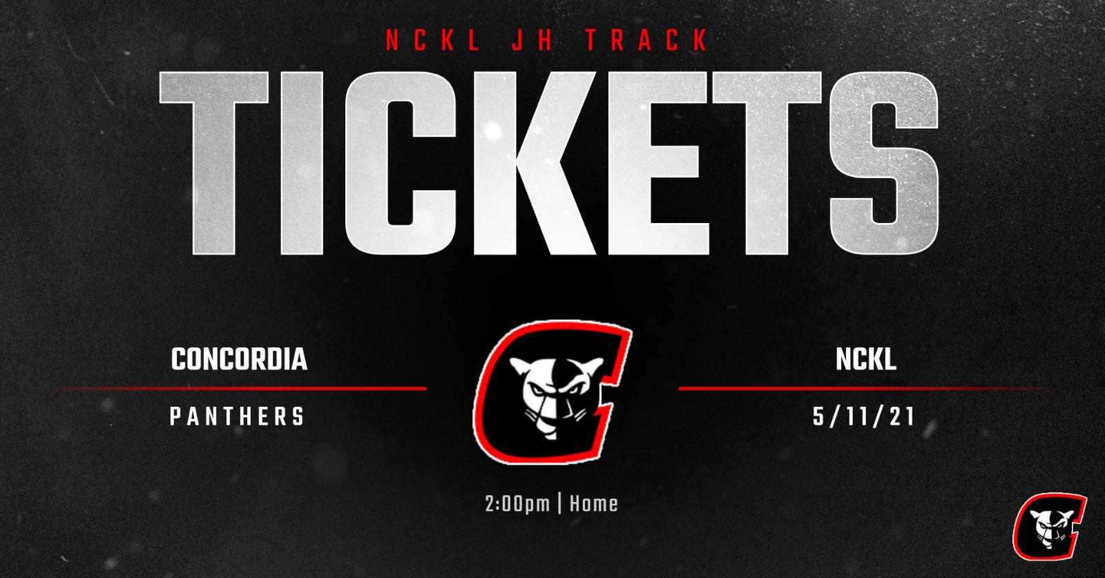 JH NCKL Track Meet Tickets 5/11