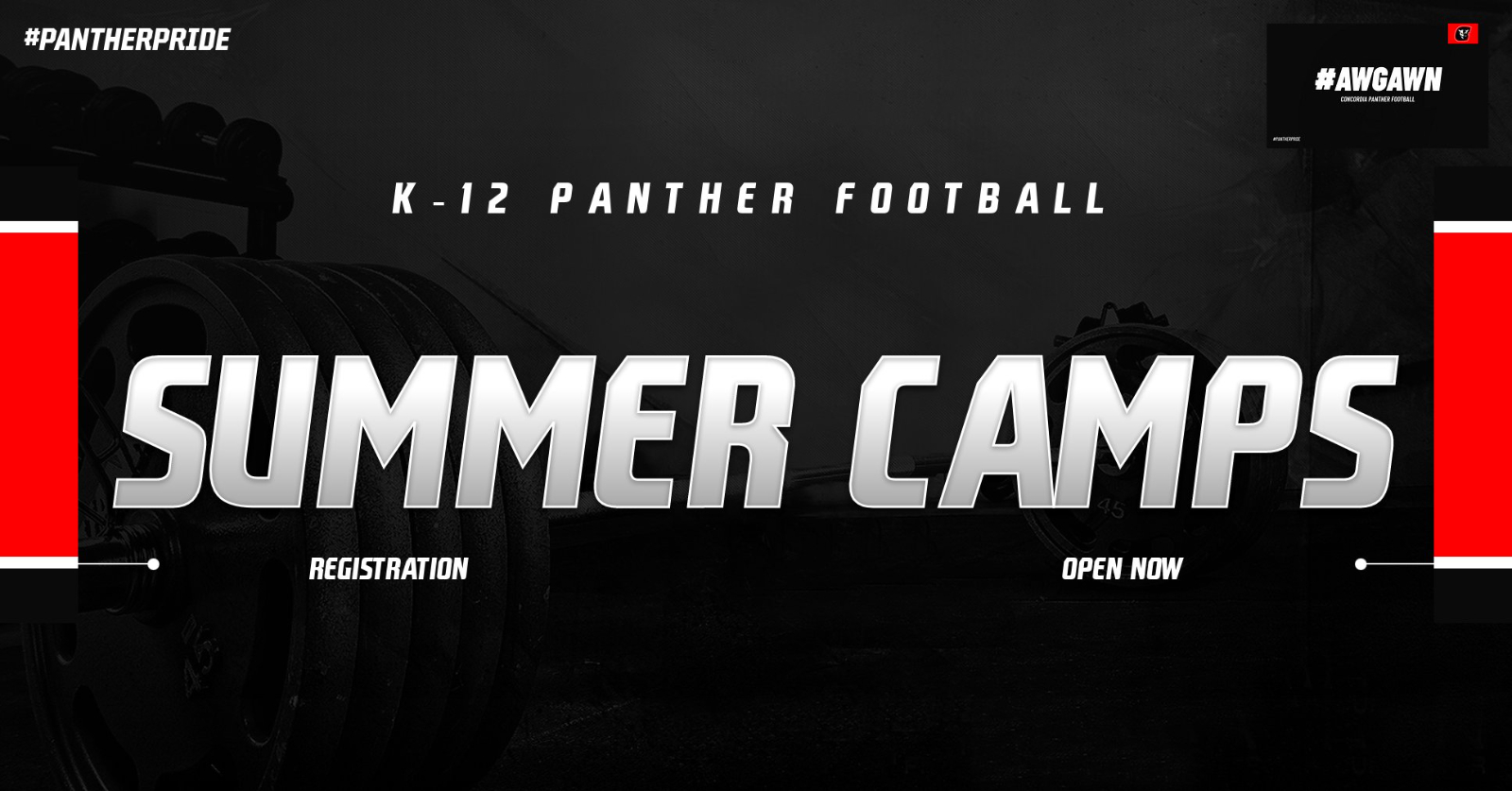 Panther Football Camp Registration: NOW OPEN