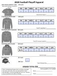 Due NOW – Football Playoff Apparel Order