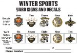 Winter Yard signs & Decal Order form