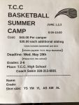 TCC Boy's Basketball Camp is June 1, 2 and 3