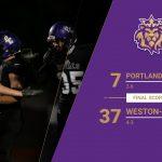 Boys Varsity Football falls to Weston-McEwen 37 – 7