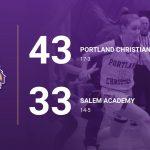 Girls Varsity Basketball beats Salem Academy 43 – 33