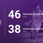Boys Varsity Basketball beats Mannahouse Christian Academy 46 – 38