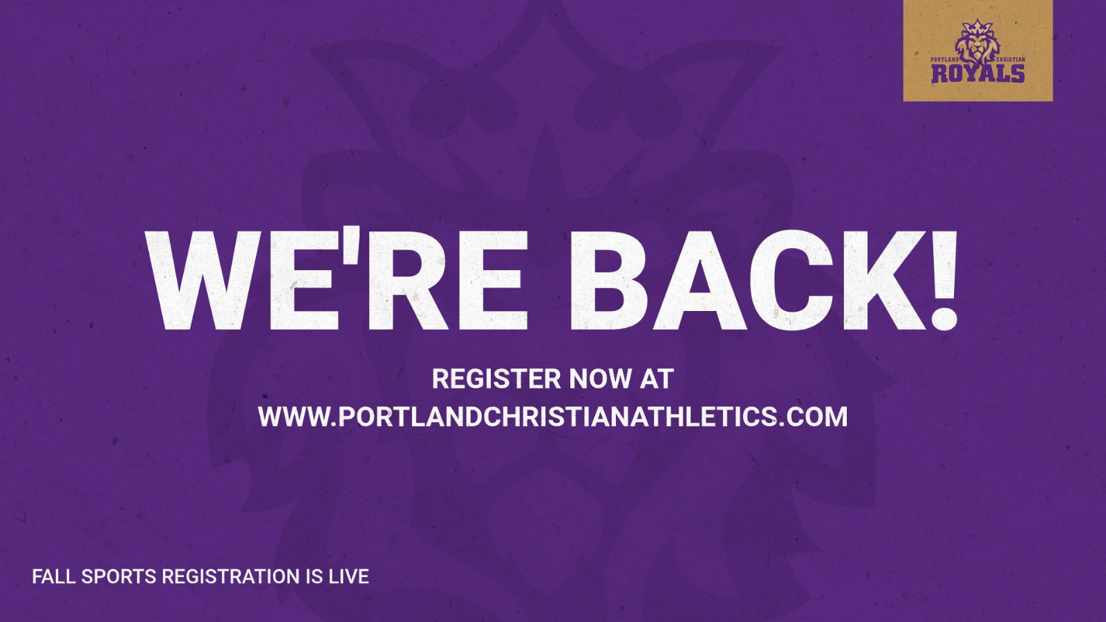 """""""Fall"""" Sport Registrations are now OPEN!"""