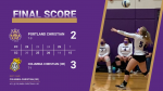 Girls Varsity Volleyball falls to Columbia Christian 3 – 2