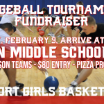 Dodgeball Tournament Fundraiser, February 9, 11:30am at Milan Middle School