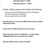 Support Milan Target Team, Casino Bus Trip Fundraiser