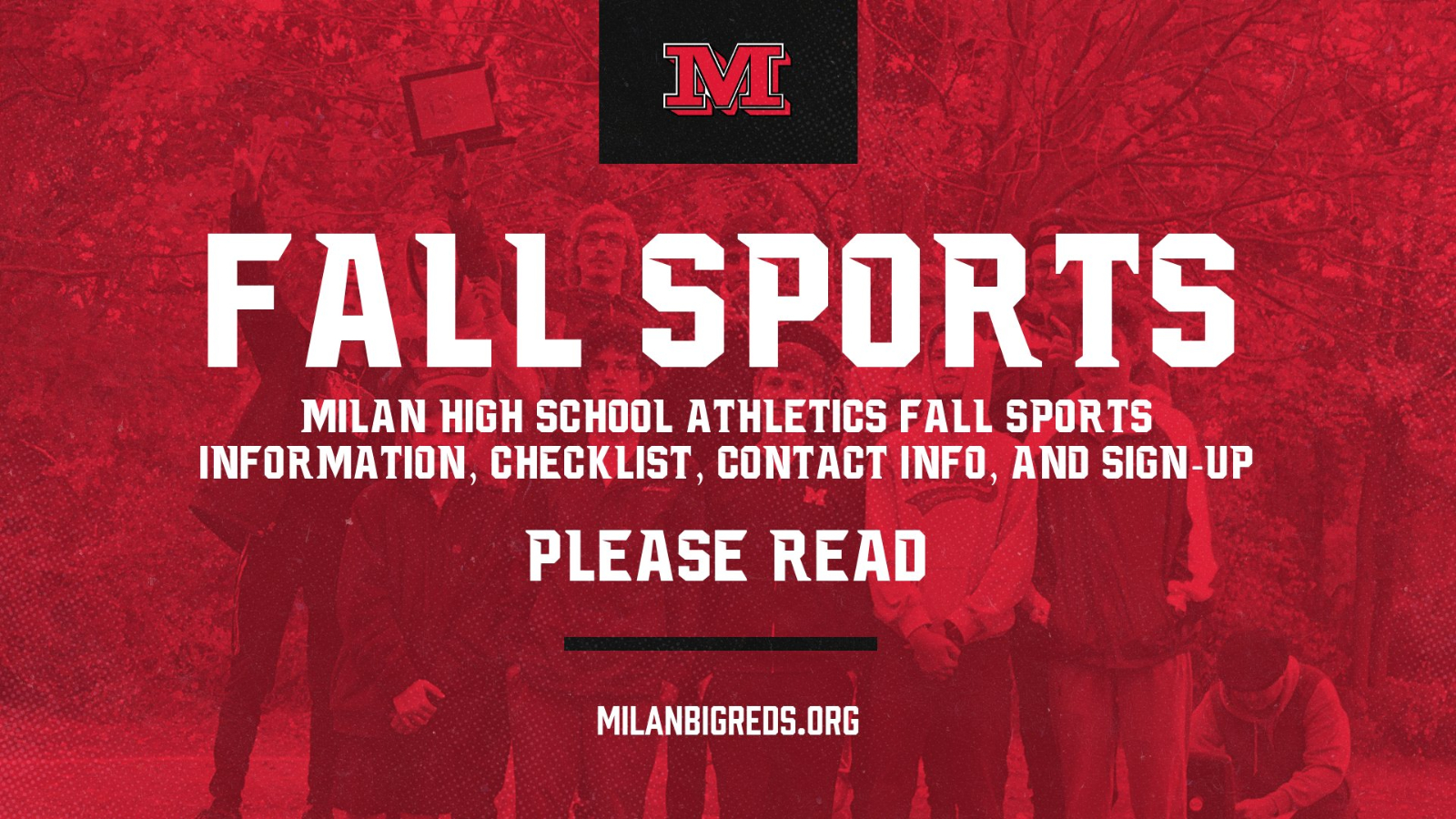 Milan Fall Sports Information, Checklist, and Sign-Up