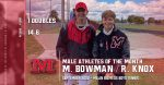 Matthew Bowman/Ryder Knox Male Student-Athletes of the Month – September 2020