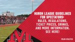 Huron League Fall Sports Spectator Guidelines