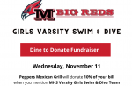 Milan Swimming Dine to Donate Fundraiser at Pepper's, Nov. 11