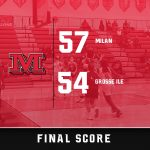 Aunins and S. Kirk combine for 42-points in Milan's 57-54 win