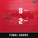 Milan baseball earns 8-2 win against SMCC, Big Reds are now 9-1 overall