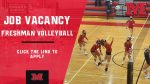 Job Vacancy: Freshman Volleyball Coach