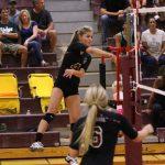 Mountain Ridge High School Girls Varsity Volleyball falls to Hamilton High School 3-0