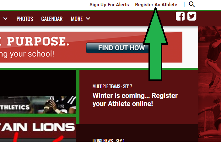 Winter is coming… Register your Athlete online!