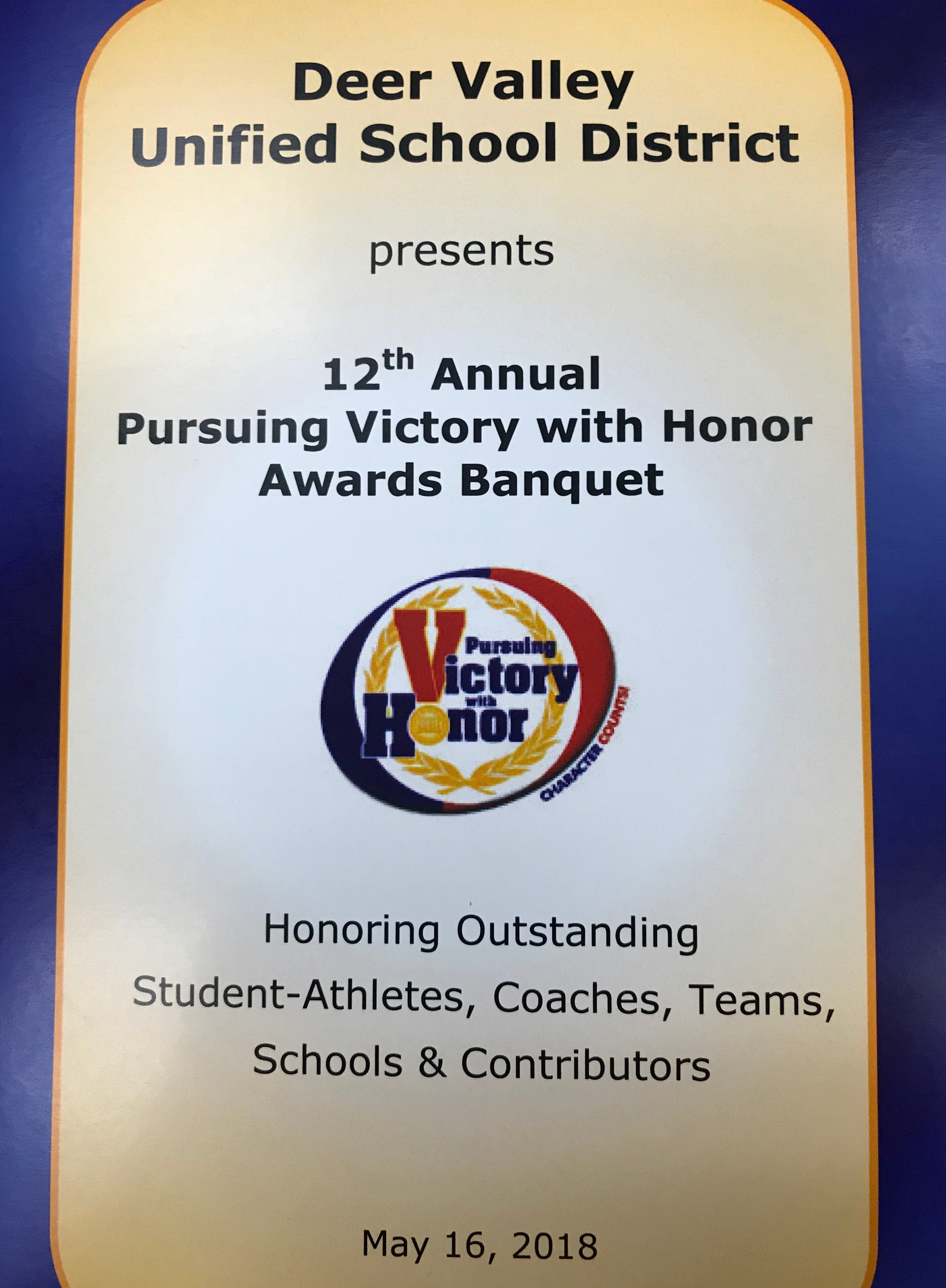 BADMINTON AND LIBERATORE AWARDED VICTORY WITH HONOR AWARDS