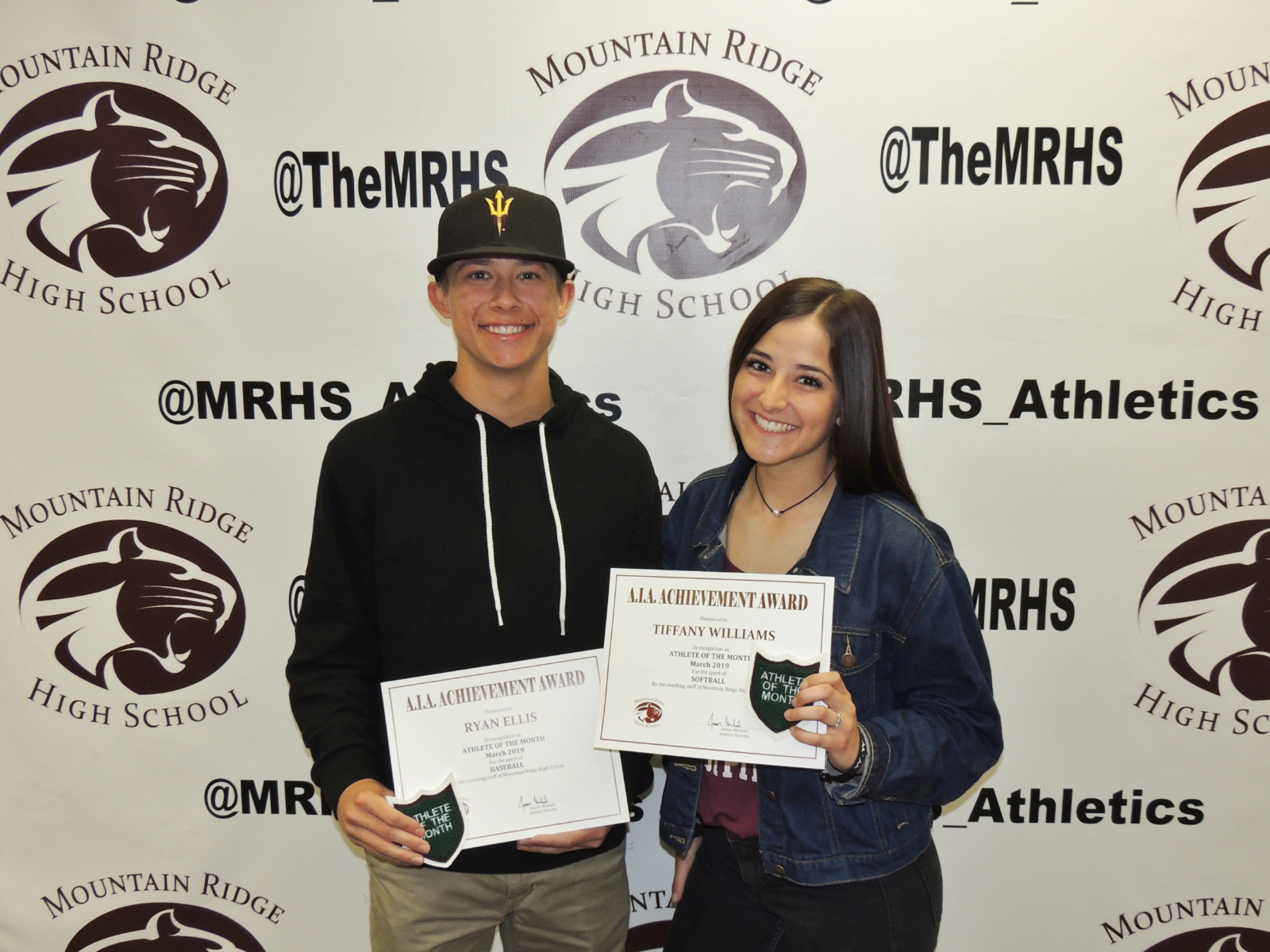 CONGRATULATIONS TO OUR MARCH ATHLETES OF THE MONTH!