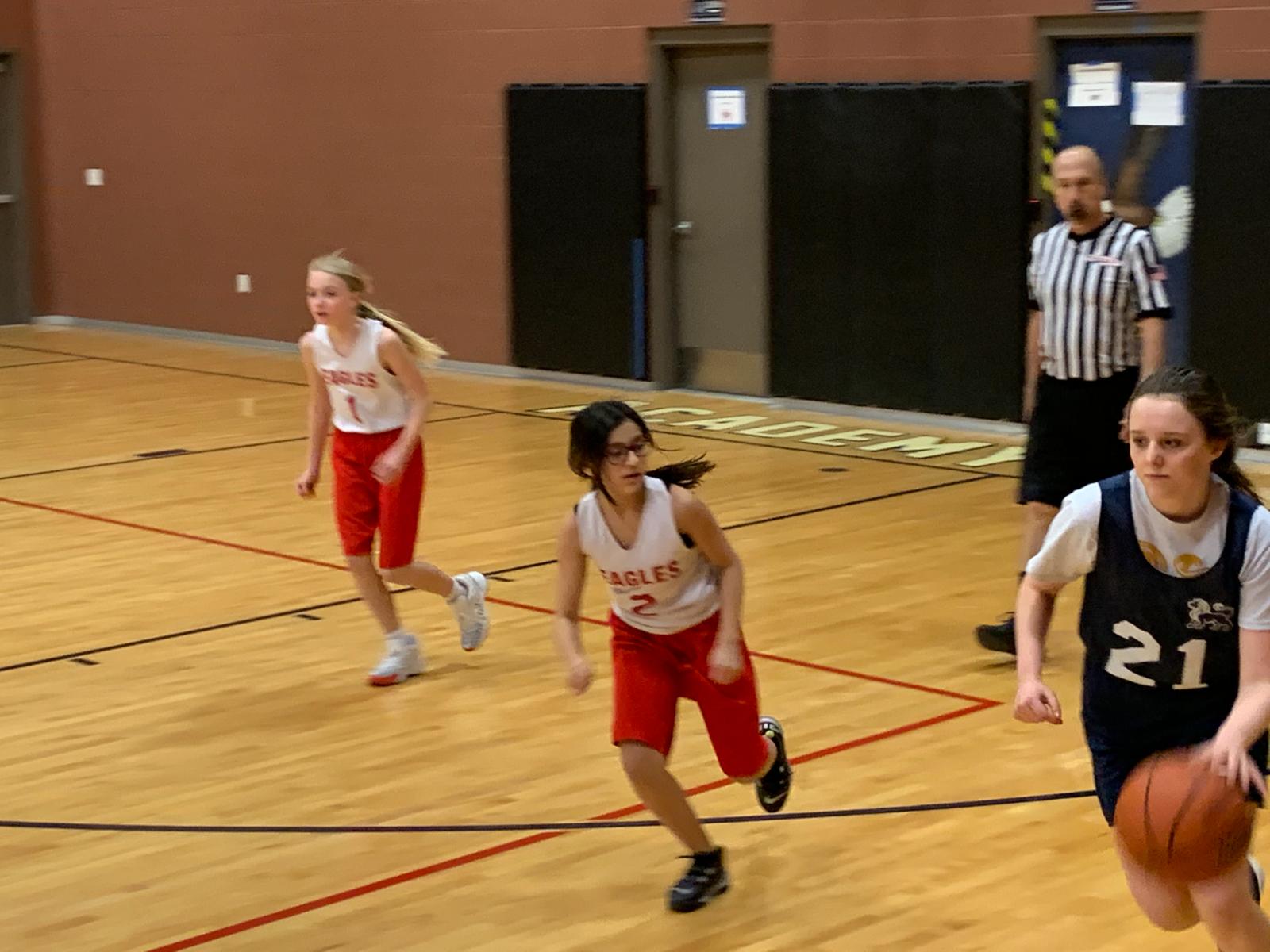 Middle School Girls Basketball B Team vs Excelsior – Feb. 8th, 2021