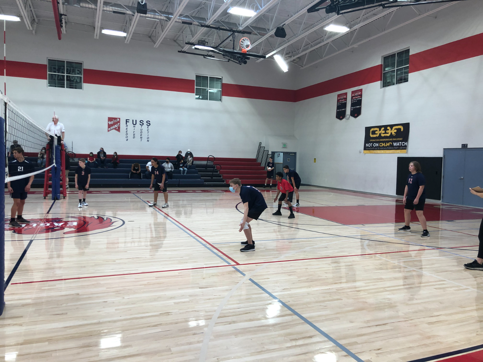 Middle School Boys Volleyball A Team VS Maeser -March 15th, 2021