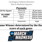 Cardington Athletic Boosters March Madness Squares!