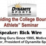 """Guiding the College-Bound Athlete"" seminar on Wednesday, January 29th at 7:00 p.m."