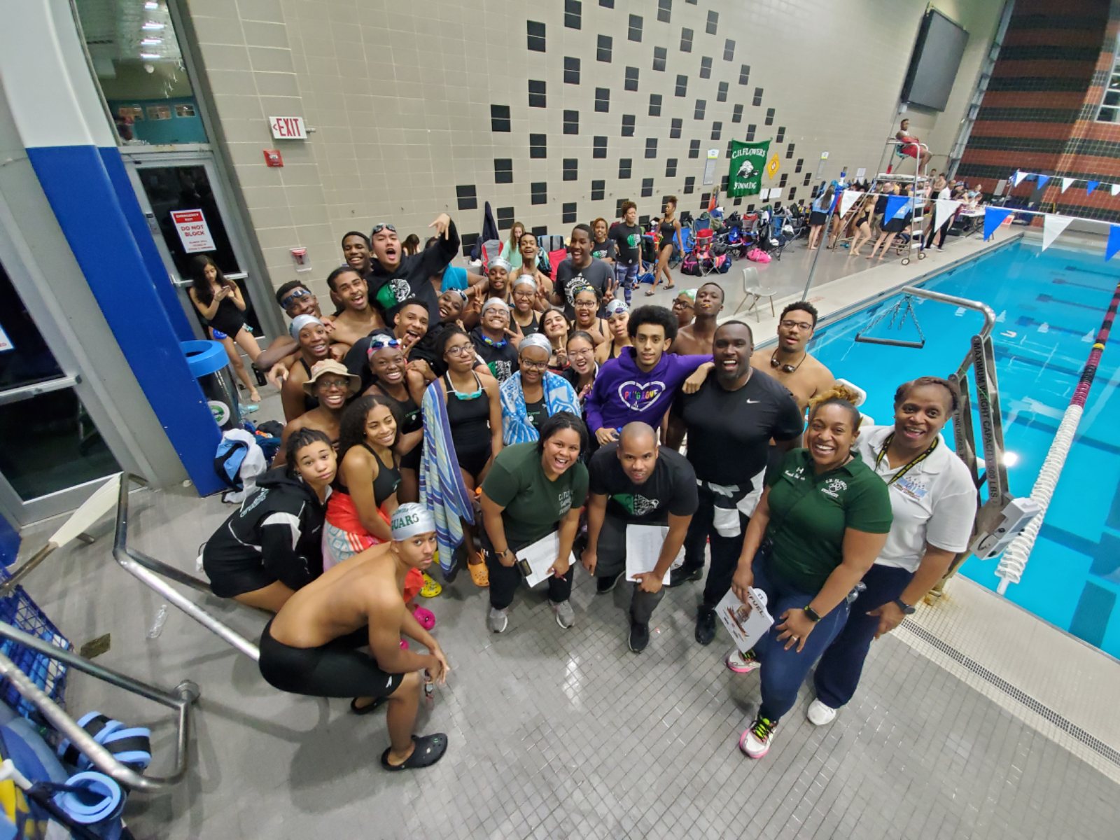 Flowers Swimmers fought strong against Northwestern Wildcats but fell short to the Roosevelt Raiders