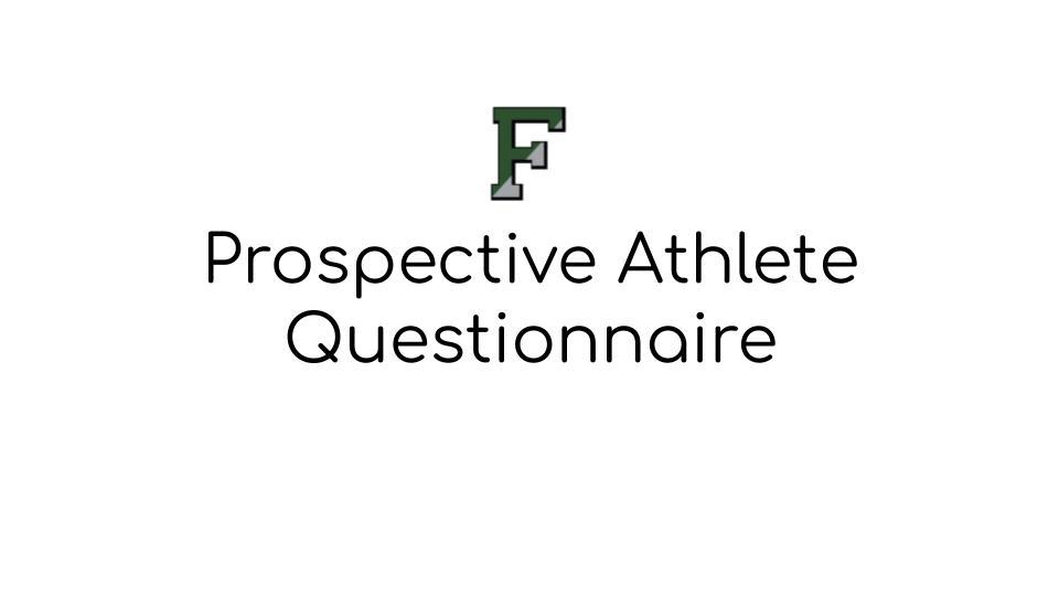 Prospective Athlete Form