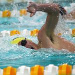 Noblesville High School Boys Varsity Swimming defeated by HSE 90-96