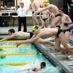 Noblesville High School Boys Varsity Swimming beat North Central High School (Indianapolis)  101-84