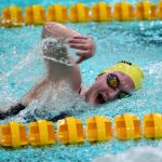 Noblesville High School Girls Varsity Swimming falls to North Central High School (Indianapolis)  130-51