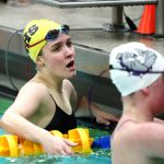 Noblesville High School Girls Varsity Swimming beat Brownsburg High School 106-79
