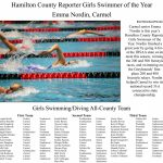 Hamilton County Reporter Girls Swimming All-County Team