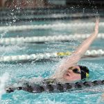 Girls Varsity Swimming falls to Brownsburg 99 – 87
