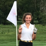 Sydney Peck hits Hole-In-One in Miller Junior Varsity Golf's loss to Zionsville