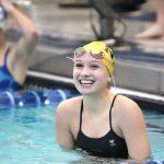 Noblesville Girls Varsity Swimming beats Franklin Central 100 – 86