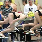 Noblesville Girls Varsity Swimming beats Lawrence North 118 – 67