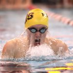 Noblesville Boys Varsity Swimming beats North Central 108 – 77 and University High School 131- 51