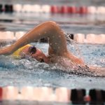 Girls Varsity Swimming defeats University High School 146 – 22; falls to North Central 115 – 71