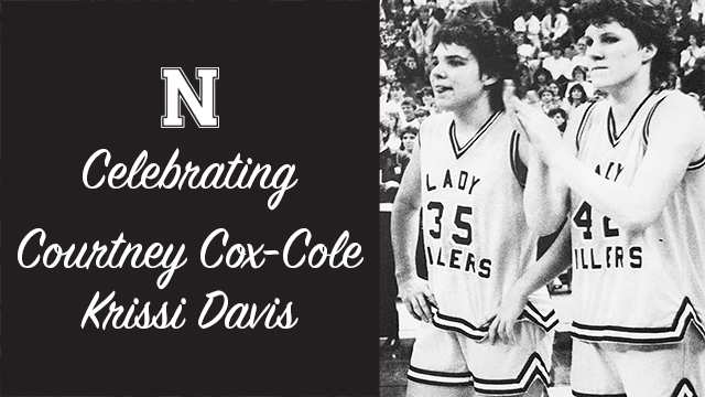 Celebrating Courtney Cox-Cole and Krissi Davis at Girls Basketball Home Opener