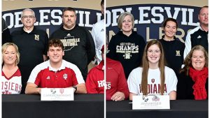 Signing Day for Cameron Knight and Anna Kiser