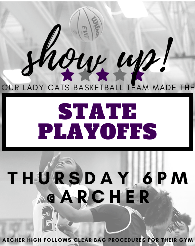 Lady Cats basketball team is in the State Playoffs