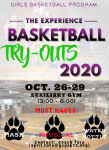 Girls Basketball Tryouts begin Monday, Oct. 26
