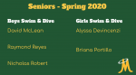 Swim & Dive – Senior Day Spring 2020