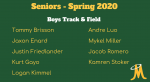 Boys Track & Field – Senior Day Spring 2020